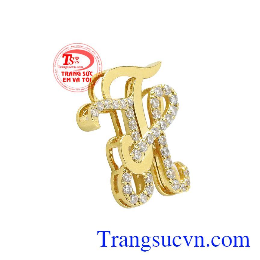 Mặt dây chữ TH vàng tây, Mặt dây chữ tình yêu, Mặt dây vàng cá tính
